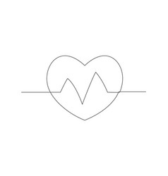 health one line drawing vector image