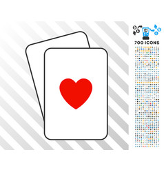 hearts suit cards with bonus vector image
