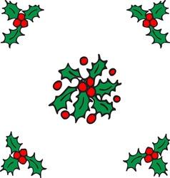 Holly design vector