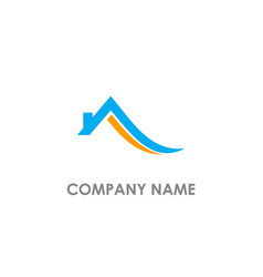 Home roof realty abstract logo vector