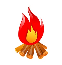 Icon bonfire vector