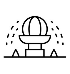 Irrigation circle icon outline style vector