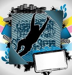 jumping man summer frame vector image