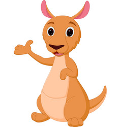 Kangaroo cartoon presenting vector