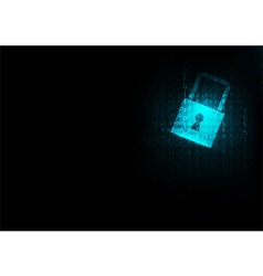 Lock abstract blue futuristic english code vector