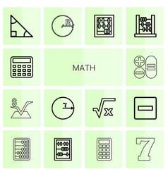 Math icons vector