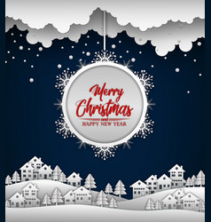 merry christmas and happy new year 2019 on blue ba vector image