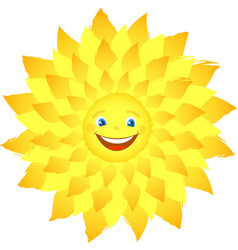merry happy sun with rays vector image
