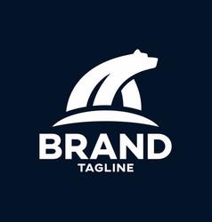 modern polar bear logo vector image