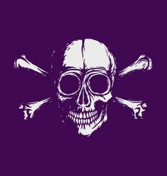 new white skull with bones - 2019 vector image