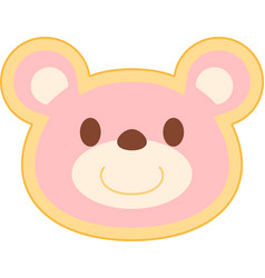 Pink bear head vector