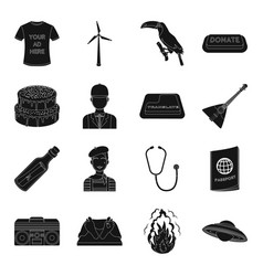 profession music travel and other web icon in vector image