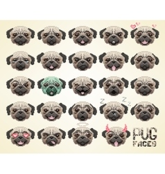 pug face emoji vector image