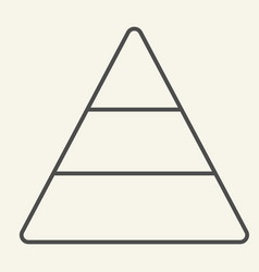 Pyramid thin line icon report vector