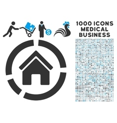 Realty Diagram Icon with 1000 Medical Business vector
