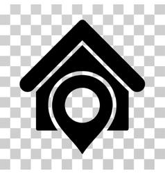Realty location icon vector