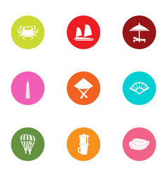 Relocate icons set flat style vector