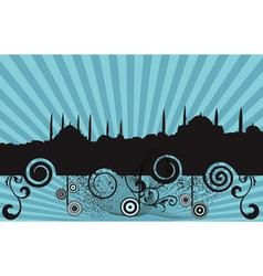 retro mosque silhouette vector image