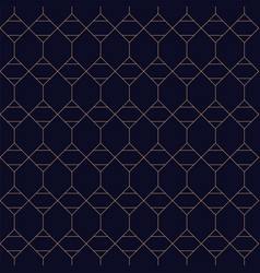 royal geometric seamless blue background grid vector image