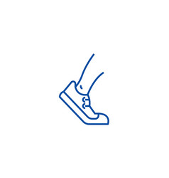 running tracking line icon concept running vector image
