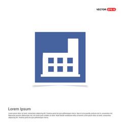 School building icon - blue photo frame vector
