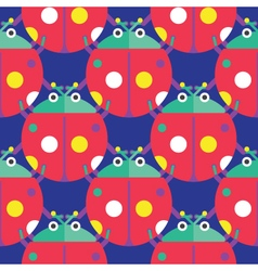 Seamless Ladybug Pattern Insect Pattern vector