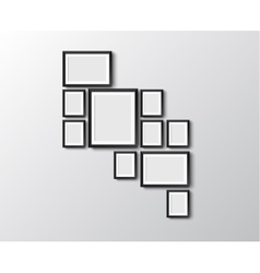 Set of picture frames vector