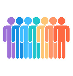 Seven man sign people icon vector