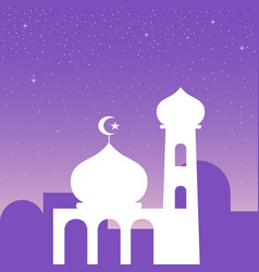 Simple graphic a mosque vector