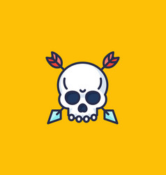 skull with arrows icon vector image