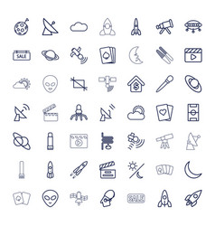 Space icons vector