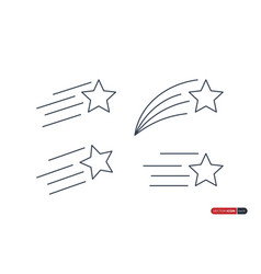 Star icons set flat icon design template vector