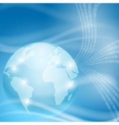 Stream of binary code to globe vector