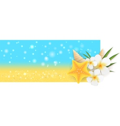 summer horizontal banner vector image