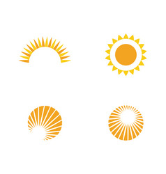 Sun logo template design vector