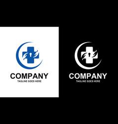 template desain logo farmasi medis vector image