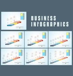 templates infographics from parts colored arrows vector image