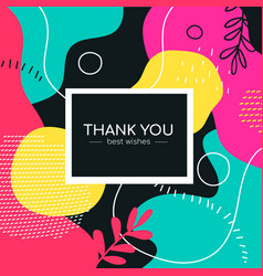thank you - modern flat design style abstract vector image