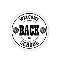 the logo welcome back to school on a white vector image
