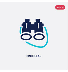 two color binocular icon from general concept vector image