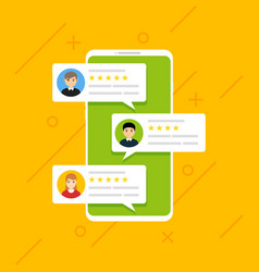 user reviews online customer feedback review vector image