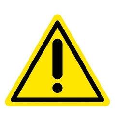 Warning attention sign vector