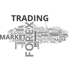 Why forex text word cloud concept vector