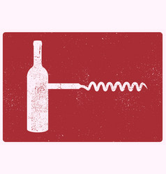 wine typographical vintage style grunge poster vector image