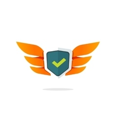 Wings shield symbol concept protection vector