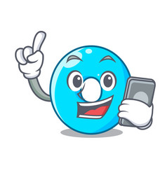 with phone the number zero on the character vector image