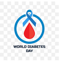 World diabetes day isolated on transparent vector