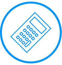 calculator line icon vector image vector image
