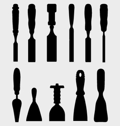 chisels vector image vector image