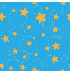 Circle and star seamless pattern vector